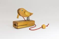 Pássaro de madeira usado Fotos de Stock