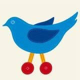 Pássaro de matéria têxtil Fotografia de Stock