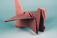 Pássaro de Origami Fotografia de Stock