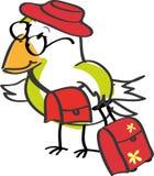 Pássaro de viagem ilustração stock