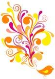 Pássaro decorativo,   Imagem de Stock Royalty Free
