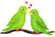 Pássaro do amor Imagens de Stock