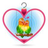Pássaro do amor do Valentim Foto de Stock