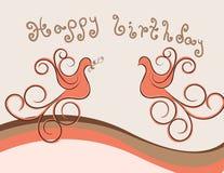 Pássaro do aniversário Ilustração Royalty Free