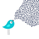 Pássaro do canto Imagens de Stock Royalty Free