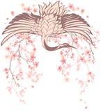 Pássaro do guindaste da mola Foto de Stock Royalty Free