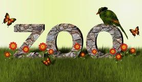 Pássaro do jardim zoológico e da pega Imagem de Stock