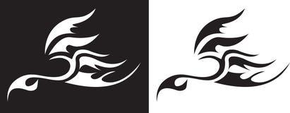 Pássaro do tatuagem ilustração royalty free