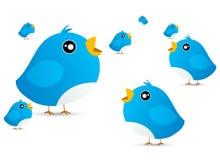 Pássaro do Twitter Imagens de Stock Royalty Free