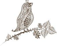 Pássaro do vintage ilustração royalty free