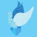 Pássaro do voo do amor Fotos de Stock Royalty Free