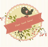 Pássaro e ramo Fotografia de Stock Royalty Free