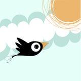 Pássaro e sol ilustração stock