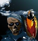 Pássaro e um crânio Imagens de Stock