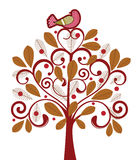Pássaro em uma árvore Fotos de Stock