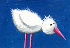 Pássaro engraçado branco ilustração stock