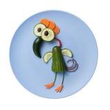 Pássaro engraçado feito dos vegetais Fotos de Stock Royalty Free