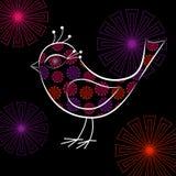 Pássaro floral Foto de Stock Royalty Free