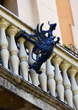 Pássaro mitológico como a característica arquitetónica Foto de Stock Royalty Free