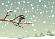 Pássaro na árvore Ilustração do Vetor