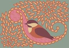 Pássaro na folha Foto de Stock