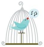 Pássaro na gaiola ilustração royalty free
