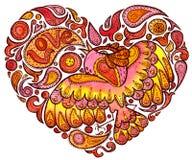 Pássaro no amor ilustração do vetor
