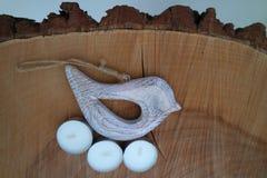 Pássaro no fundo de madeira 2 Fotografia de Stock