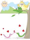 Pássaro parvo Lonesome_eps Imagem de Stock
