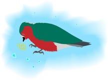 Pássaro que come a grão ilustração do vetor