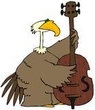Pássaro que joga o baixo ilustração stock