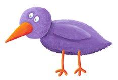 Pássaro roxo ilustração stock
