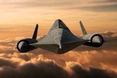 Pássaro SR-71 preto Fotografia de Stock Royalty Free