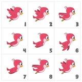 Pássaro vermelho de voo dos desenhos animados Ilustração Royalty Free