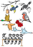 Pássaros Ilustração Stock