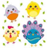 Pássaros ilustração royalty free