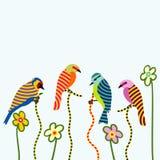 Pássaros abstratos Fotografia de Stock Royalty Free