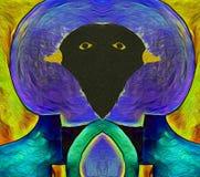 Pássaros as cores dos melros ilustração do vetor