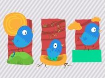 Pássaros azuis Foto de Stock