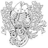 Pássaros bonitos na garatuja do amor Ilustração do vetor Ilustração do Vetor