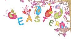 Pássaros bonitos para Easter Fotografia de Stock Royalty Free
