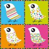 Pássaros coloridos ilustração stock