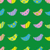 Pássaros coloridos do teste padrão sem emenda ilustração royalty free