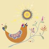 Pássaros coloridos na manhã Fotos de Stock