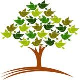 Pássaros da árvore ilustração royalty free