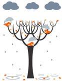 Pássaros da chuva Imagens de Stock Royalty Free