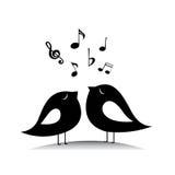 Pássaros da música Imagem de Stock Royalty Free