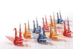 Pássaros de Origami Imagem de Stock