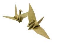 Pássaros de papel Fotos de Stock Royalty Free