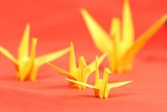 Pássaros de papel Imagens de Stock Royalty Free